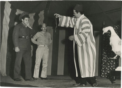 N.p.: N.p., 1943. Vintage oversize borderless double weight photograph of director Orson Welles in a...