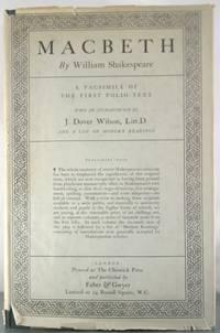 Macbeth: A Facsimile of the First Folio Text