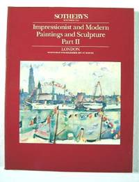 Sotheby's : Impressionist and Modern Paintings and Sculpture, Part II : London : December 2, 1987 : Sale No. 'GERBEROY'