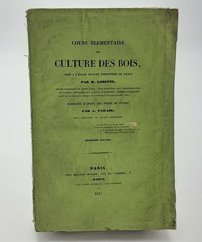 Paris.: Madame (Rosalie) Huzard., 1837. 2nd Edition.. Publisher's printed wraps.. Good plus, covers ...
