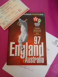 97 ENGLAND V AUSTRALIA OFFICIAL SOUVENIR PROGRAMME, Ticket  and Letter Signed By David Shepherd.
