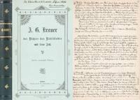 J. G. Krauer - der Dichter des Rütli-Liedes und seine Zeit. [Handexemplar des anonymen...