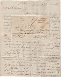 Commercial letter from London to the United States discussing the prospect of continuing the War of 1812 - Delivered by the American privateer, Brutus, just as the British were imposing a blockade on American harbors