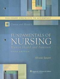Fundamentals of Nursing : Human Health and Function by Constance J. Hirnle; Elissa Swisher Sauer - Paperback - 2006 - from ThriftBooks (SKU: G0781786045I4N10)