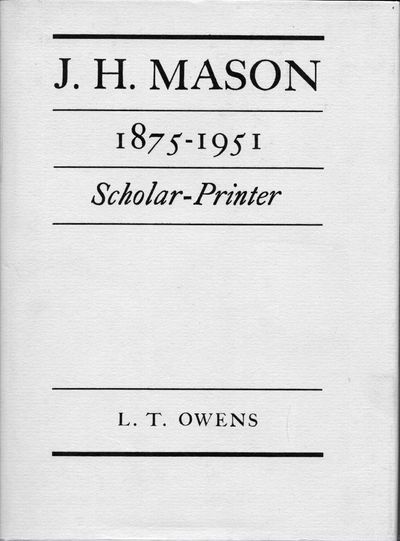 London: Frederick Muller Ltd, 1976. 1st edition. Blue cloth with gilt title on spine. Dust jacket. N...