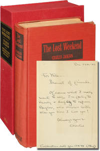 The Lost Weekend (First Edition, inscribed to actress Nila Mack prior to publication)