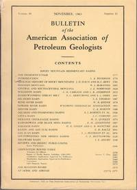 Bulletin of the American Association of Petroleum Geologists - Rocky  Mountain Sedimentary Basins November 1965, Volume 49, Number 11