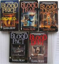 """Victoria Nelson series:  book one - Blood Price;   book two - Blood Trail;  book three - Blood LInes;  book four - Blood Pact;  book five - Blood Debt;  -the five (5) vol """"Victoria Nelson"""" series    -SIGNED-"""