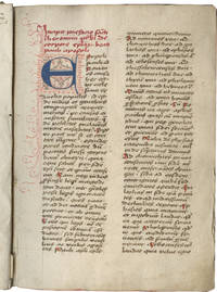 Latin Bible, part (Pauline and Catholic Epistles, Acts, Apocalypse); NICHOLAS OF LYRA, Postillae (Commentaries on the Pauline and Catholic Epistles, Acts, Apocalypse); in Latin, decorated manuscript on paper