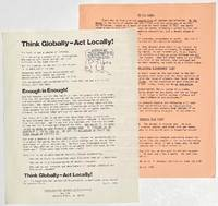 image of Think globally - act locally [together with] On the Beach [two handbills]