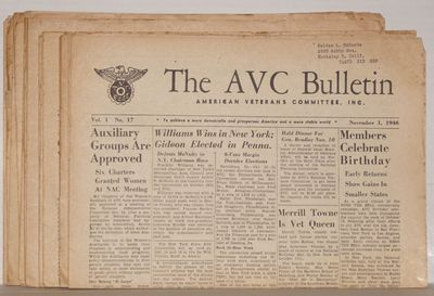 New York: American Veterans Committee, 1946. 14 issues of the tabloid-format newspaper published by ...
