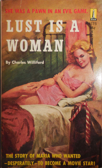 New York: Beacon, 1958. First edition. Paperback. Very Good. Pocket paperbound original sleaze novel...
