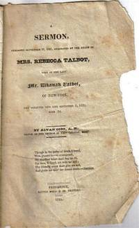 image of 1825 Sermon Preached on Sept 18, Mrs. Rebecca Talbot NY