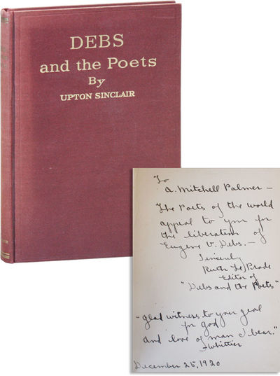 Pasadena: Upton Sinclair, 1920. First Edition. Octavo (18.75cm); maroon cloth, with titles stamped i...