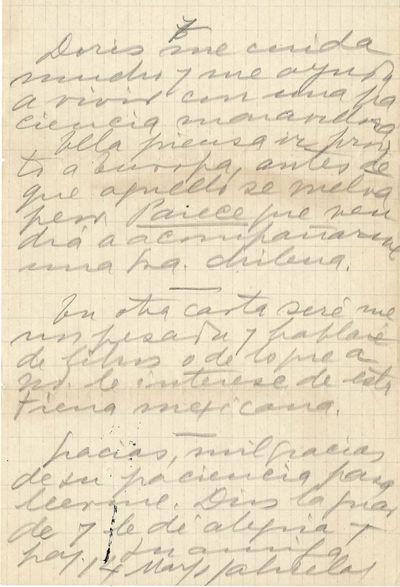 Gabriela Mistral Autograph Letter...