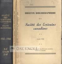 Montréal: Editions de la Société des Ecrivains Canadiens, 1937. one cloth with original paper wra...