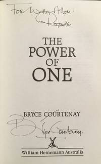 The Power of one SIGNED 1st edition