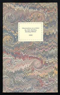 Observations on a Letter by John Eardley Eardley-Wilmot, Esq..