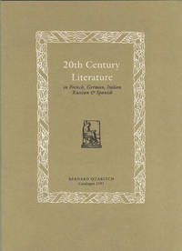 20th Century Literature in French, German, Italian, Russian & Spanish. Catalogue 1191