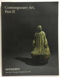 Contemporary Art, Part II, Sotheby's New York Thursday November 20, 1997