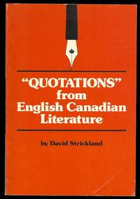 """image of """"QUOTATIONS"""" FROM ENGLISH CANADIAN LITERATURE."""