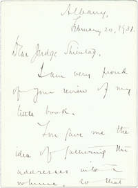 Autograph Letter, Signed, Albany, February 20, 1931