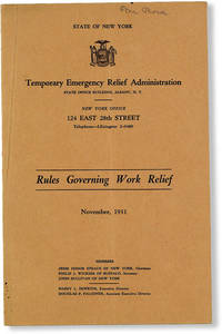 image of Rules Governing Work Relief, November, 1931