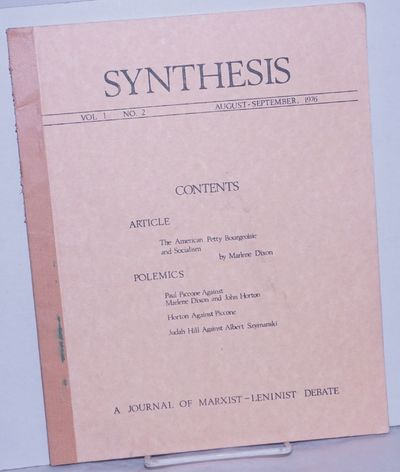 San Francisco: Synthesis / League for Proletarian Socialism, 1976. Magazine. One issue of the journa...