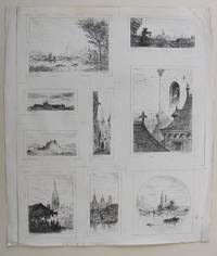 Nine small etchings - [Paris à l'Eau-Forte]