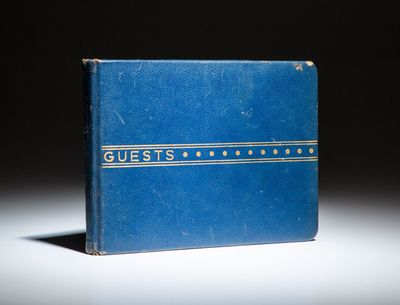 Boston: Samuel Ward Stationery, 1951. Guest Book. Full leather. Very good. The Guest Book from Presi...