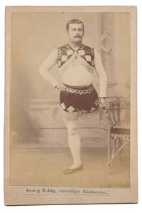 [Cabinet Card Photograph of One-Legged Acrobat Georg Fabig]
