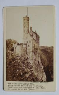 image of Carte De Visite Photograph. A View of Lichtenstein Castle, Wurtemburg, Germany.