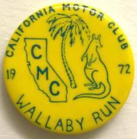 California Motor Club / Wllaby Run / 1972 [pinback button]