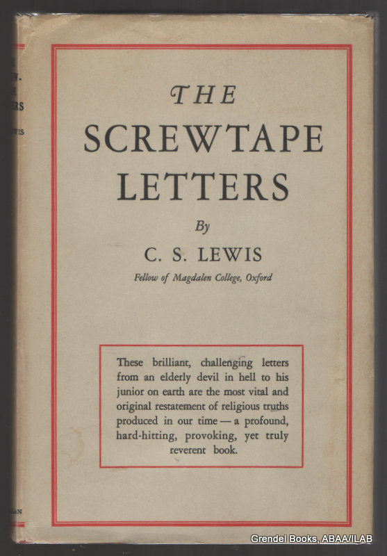 the screwtape letters by c s The screwtape letters is a novel by c s lewis that was first published in 1942 get a copy of the screwtape letters at bncom buy now summary plot overview .