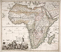 [Africa] Accuratissima Totius Africae Tabula in Lucem Producia Per Tacobum de Sandrart Norimbergae