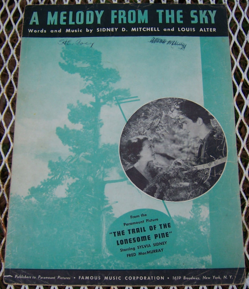 MELODY FROM THE SKY, Sheet Music
