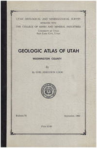 Geologic Atlas of Utah, Washington County (Bulletin 70, September 1960)