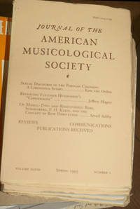 Journal of the American Musicological Society. Volume XLVIII Spring 1995, Number 1
