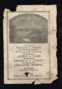 1855 illustrated American Party ticket with William T Minor for Governor. This party was known as the Know- nothing party