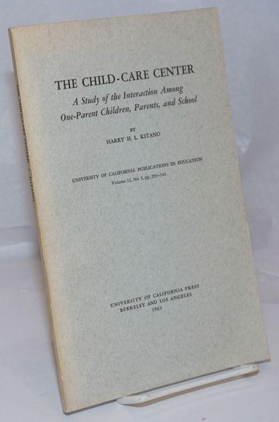 Berkeley: University of California Press, 1963. Paperback. v, pp. 293-344, 6x9.25 inches, introducti...