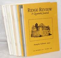 Ridge review, issues of concern to all lovers of the northern California coastal ridges [12 unduplicated issues]