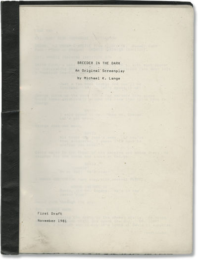 N.p.: N.p., 1981. First Draft script for an unproduced film. David, a constant disappointment, is fl...