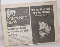 image of GCN: Gay Community News; the weekly for lesbians and gay males; vol. 18, #6, August 12 - 18, 1990; Success predicted for Florida gay rights measure
