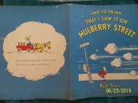 And To Think That I Saw It On Mulberry Street (1937 1st Ed.) DUST JACKET ONLY
