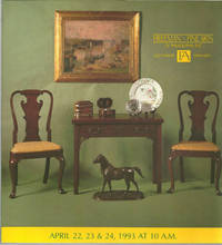 SALE NO. 542 THURSDAY, FRIDAY AND SATURDAY APRIL 22, 23, 24 1993 Antiques,  Paintings and Furniture