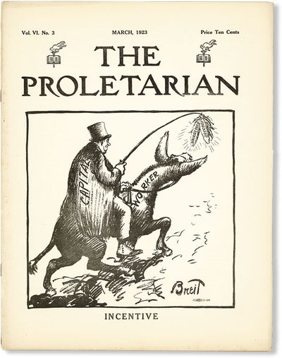 Chicago: Proletarian Party of America, 1923. First Edition. Paperback. Official organ of the Proleta...