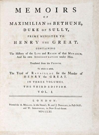 London: A. Millar; R. and J. Dodsley; W. Shropshire, 1761. Third edition. Hardcover. g. Quarto. xxxi...