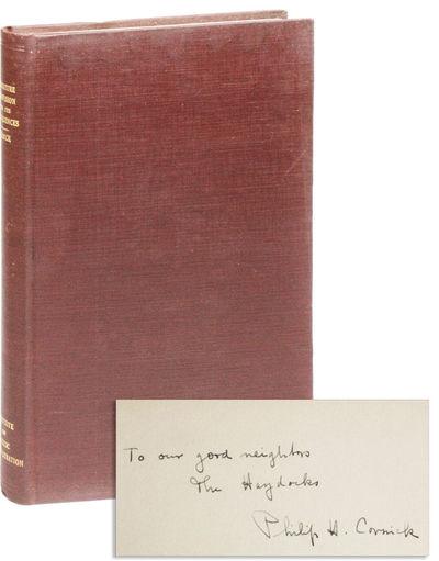 New York: Institute of Public Administration, Columbia University, 1938. Reprint. Authorized Reprint...