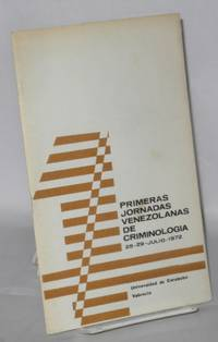 image of Primeras jornadas Venezolanas de criminologia 25-29 - Julio - 1972