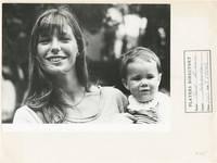 image of Original photograph of Jane Birkin posing with her daughter Charlotte, circa 1972